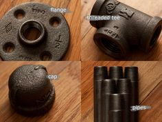 tulle&wrench: DIY // Pipe Table - good building tip Pipe Furniture, Industrial Furniture, Furniture Projects, Furniture Making, Home Projects, Projects To Try, Furniture Vintage, Galvanized Pipe, Diy Pipe