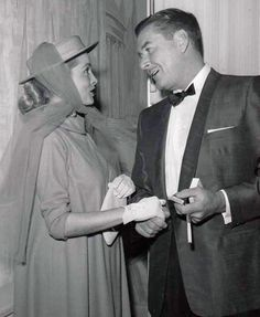 Janet Leigh and Errol Flynn, 'Thalians benefit Easter Show at Beverly Hilton Hotel, 1956.