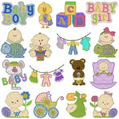 BABY Machine Applique - Machine Embroidery Design for sale at https://www.southerncrossembroidery.com/market/baby-machine-applique/