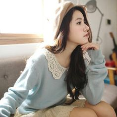 Crochet-Collar Knit Top from #YesStyle <3 Tokyo Fashion YesStyle.com