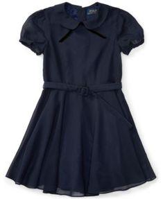 75edc7df Polo Ralph Lauren Ralph Lauren Fit & Flare Chiffon Dress, Little Girls Kids  - Dresses - Macy's