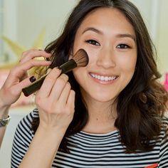 """Michelle gleams in her """"Super Skin"""" look! Get this full tutorial on our Be Beautiful Blog."""