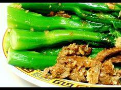 牛肉西兰花Beef with Crispy Chinese Broccoli in Oyster Sauce ( Kai Lan ) Authentic Cantonese Cooking Asian Recipes, Vietnamese Recipes, Chinese Recipes, Chinese Stir Fry Sauce, Real Chinese Food, Kai Lan, Lamb Ribs, Chinese Greens, Oyster Sauce