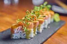 Oshi Sushi, Best Sushi, Salmon, Food Photography, Ethnic Recipes, Lima, Asian, Vintage, Instagram