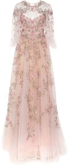 085f66f6b4a Flutter Sleeve Embroidered Gown ad Βραδινές Τουαλέτες, Μακριά Φορέματα,  Ετικέτες, Ενδυμασία, Κέντημα