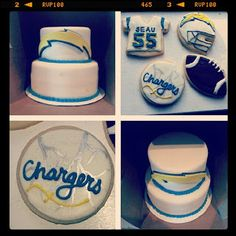 Chargers Cake and Cookies - Pink Sugar Cupcakes Sugar Cake, Pink Sugar, Royal Icing Cookies, Cookie Ideas, Fun Stuff, Coasters, Cupcakes, Foods, Bucket