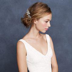 Pinwheel crystal comb J Crew Pretty White Dresses, Bella Bridal, Low Chignon, Bride Accessories, Jewelry Accessories, Sophisticated Bride, Bridal Looks, Wedding Bride, Wedding Updo