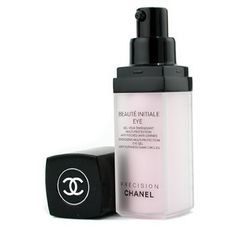 Chanel Precision Beaute Initiale Energizing Multi-protection Eye Gel 0.5 oz by CHANEL. $86.00. SB07356480201. This treatment helps correct signs of fatigue in eye zone Reduces appearance of dark circles, puffiness & fine lines Derivatives of vitamins & vital trace elements like magnesium, copper Energizes skin to renew & rebuild itself to preserve youthfulness While Blue Ginger PFA adds new radiance Leaves your eyes glow with vitality & well-being Gel emulsion texture makes eyes ...