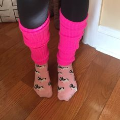 Hot pink leg warmers Hot pink leg warmers. One size. Worn only once! Great for dancers or athletes. Keeps legs warm before and during workouts. Also good for hanging out! None Accessories Hosiery & Socks