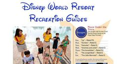 Staying at a Disney Resort?  Then you might want to check out these Disney World Resort Recreation Activities Guides and Calendars