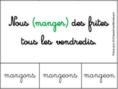 En classe avec Montessori: [Contributions / conjugaison - cycle 3] : des cart... Teacher Organization, Teacher Hacks, Cycle 3, Montessori Education, French Resources, Becoming A Teacher, School Games, Kids Learning, Homeschool