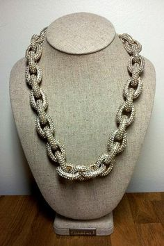 Authentic J. Crew Classic Crystal Pave Link Gold Necklace Statement BLOG FAVE J Crew Necklace, Gold Necklace, Crystals, Classic, Link, Blog, Derby, Crystal, Classic Books