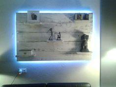 Wandbord met led verlichting