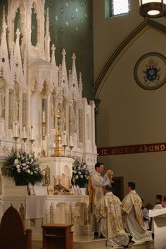 Solemn High Mass at Holy Name of Jesus Catholic Church in Brooklyn.