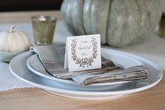 Thanksgiving Free Printable | I am thankful for Cards