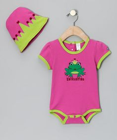 Take a look at this Pink 'Enchanting' Bodysuit & Beanie - Infant by Sozo on #zulily today!