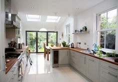 kitchen living extension terraced house - Google Search