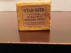Vintage Star Rite Junior Electric Waving Iron with Box | eBay