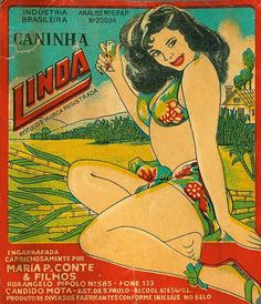 Label for cachaça! Pinup, Banners, Tomie Ohtake, Advertising Poster, Illustrations, Sweet Memories, Vintage Posters, Ephemera, Street Art