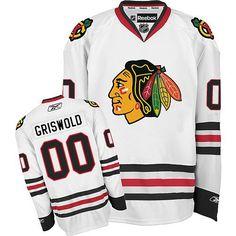 Men s Chicago Blackhawks Clark Griswold Premier White Away NHL Jersey 4f7db419e