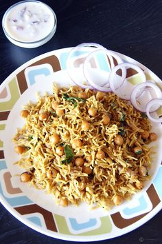 Chana (Chickpea) Pulav - An extremely healthy, quick and easy to make dish which is perfect for your kid's lunch box.