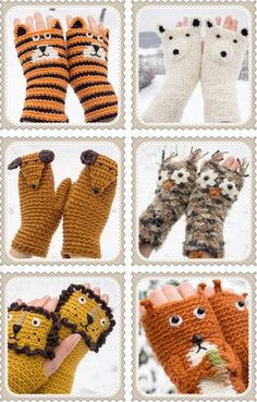 Kids Fingerless Gloves, Knitted, Hand Knits, Mittens section of information related to. Fingerless Gloves Crochet Pattern, Mittens Pattern, Fingerless Mittens, Knit Mittens, Crochet Slippers, Knitted Gloves, Crochet Capas, Knit Crochet, Bracelet Crochet