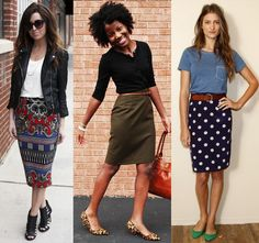 how to wear a pencil skirt with flats