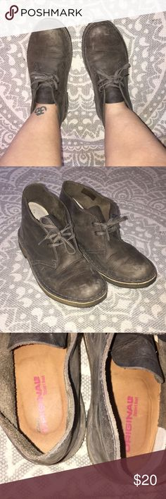 Clarks original desert boot Clarks Original Desert Boot -worn twice I have had these a while and haven't worn them much but they got really roughed up in my closet. No actual damage, they will clean up well with a good polish! Clarks Shoes Combat & Moto Boots
