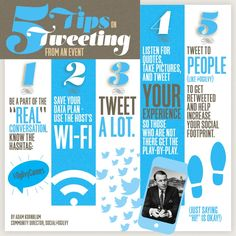 5 Tips on Tweeting from an Event  by Adam Kornblum via slideshare