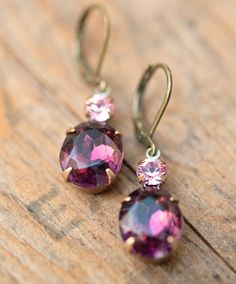 Vintage Earrings Swarovski Crystal Bridesmaids gift by Not One Sparrow
