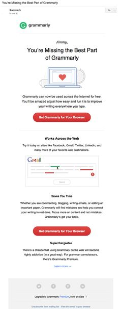 Grammarly retention email