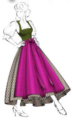 Dirndl im Miederschnitt (Modell 3) - Salzburger Heimatwerk Glamour, Costumes, Austria, Lotus, Random Stuff, Aurora Sleeping Beauty, Geek Stuff, Thoughts, Disney Princess