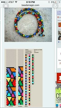 kette 12 🎀 siehe bild · ☆ · 𝔤𝔢𝔣𝔲𝔫𝔡𝔢𝔫 𝔞 hapisane isi - The world's most private search engine Crochet Bracelet Pattern, Crochet Beaded Necklace, Bead Crochet Patterns, Bead Crochet Rope, Beaded Bracelet Patterns, Beading Patterns, Beaded Crochet, Beaded Jewelry Designs, Seed Bead Jewelry
