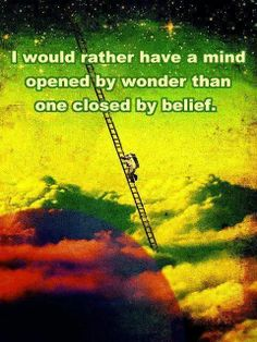 Open your minds