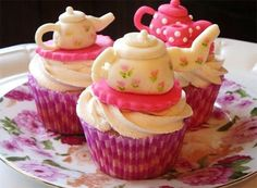 3 Tea Party Cupcake Ideas And More Tip For Everyone To Enjoy   tea party cupcakes ideas |  Tea Party & Cupcakes  | Tea party (cupcakes, cakepops & cookies) |