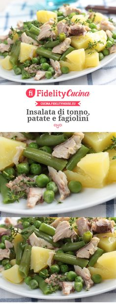 Insalata di tonno, patate e fagiolini - Recipes, tips and everything related to cooking for any level of chef. Light Recipes, Wine Recipes, Salad Recipes, Cooking Recipes, Healthy Recipes, Antipasto, Italian Dishes, Italian Recipes, I Love Food