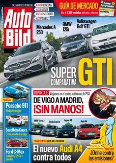 Revista Autobild 495, #diciembre. Super comparativa #GTI, el nuevo #AudiA4, #Porche 911, #Ford C-Max...