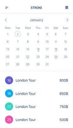 calendar UI design