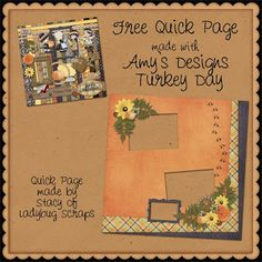 Scrapbooking TammyTags -- TT - Designer - Ladybug Scraps,  TT - Item - Quick Page, TT - Theme - Autumn or Thanksgiving