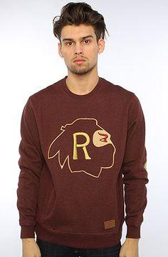 The Ninja Rugby Crewneck Sweatshirt in Burgundy by RockSmith