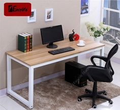 Modern Wooden Children Kids Study Desk Computer PC Table Workstation Home Office If the chest can fit under the bed a narrow desk can go in its place