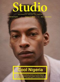 British-Nigerian model Ty Ogunkoya on the February 2014 cover of Italian magazine Rivista Studio for their 'Cool Nigeria' issue. Whether or not this is simply part of the 'Cool Africa/Africa rising' trend we're seeing a lot of in Western pop culture. Magazine Design, Graphic Design Magazine, Magazine Ideas, Magazine Wall, Magazine Covers, Magazine Cover Layout, Graphic Design Posters, Graphic Design Inspiration, Typography Design