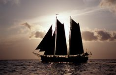 A classic tall ship sailing the Indian Ocean