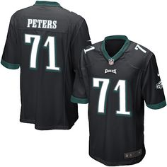 Nike Game Jason Peters Black Men's Jersey - Philadelphia Eagles #71 NFL Alternate