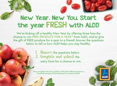 Share how you eat fresh with @ALDIUSA for a chance for you and a friend to win free produce for a year!