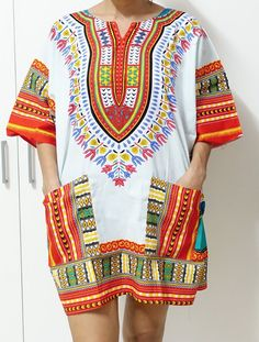 retro HIPPIE BOHO GYPSY ART music festival African Dashiki Shirts unisex top 609 #Unbranded #Tunic #Casual