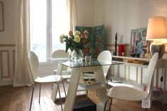 Imagine sitting right here dipping a fresh croissant into your café au lait on your next trip to #Paris. To check availability for this vacation home, click the photo.