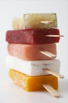 Homemade Popcicle Recipes  Mint-Watermelon Lemonade Pops  Mango Margarita Pops  Honey Cherry Yogurt Pops