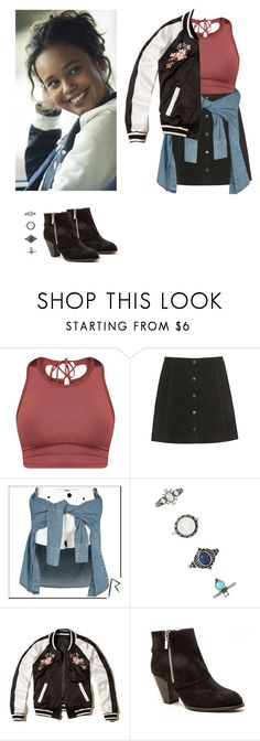 """Jessica Davis - 13 reasons why / 13 rw"" by shadyannon ❤ liked on Polyvore featuring Topshop, Lydia Bright, Forever 21, Hollister Co. and Qupid"
