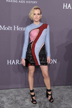 Diane Kruger attends the amfAR New York Gala 2017 sponsored by FIJI Water at Cipriani Wall Street on February 8 2017 in New York City